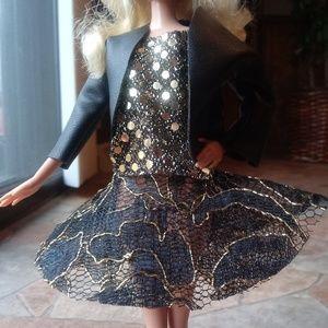 Custom Expert Made Black & Gold Barbie Outfit